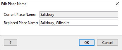 Editing place names